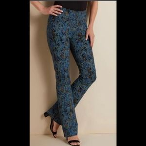 Soft Surroundings Marbled Print Pants